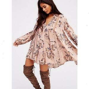 Free people Just the two of us paisley tunic dress